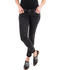 jeans cropped negro madremia