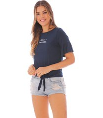 camiseta estampada para mujer x49296