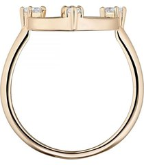 anillo con motivo norte, blanco, baño de oro rosa  5515035