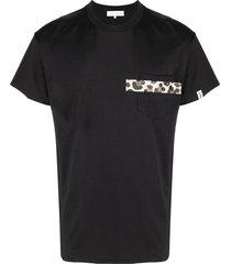 mackintosh horizontal-stripe t-shirt - black