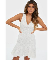 nly trend high low frill dress skater dresses