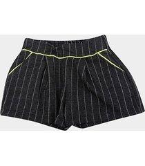 shorts infantil cativa listrado feminino