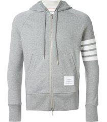 classic full zip hoodie with engineered 4-bar