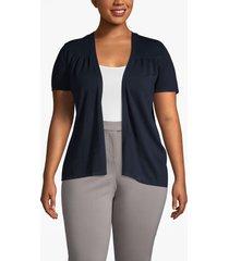 lane bryant women's short-sleeve shrug 26/28 dark water