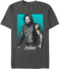 marvel men's avengers infinity war bucky war pose short sleeve t-shirt