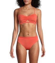 chaser women's vented bikini top - papaya - size m
