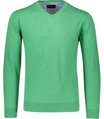 portofino pullover groen v-hals katoen