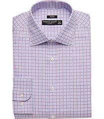 pronto uomo berry & blue check modern fit dress shirt