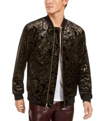 inc men's big & tall luca novelty brocade bomber jacket, created for macy's