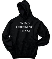 wine drinking team tee hoodie