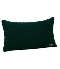 capa de almofada tricot 60x40 c/zíper sofa cod 354.8 verde musgo