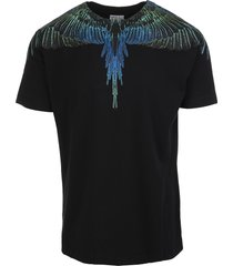 man black and blue wings t-shirt
