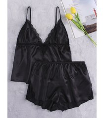 conjunto de pijama de diseño hueco negro
