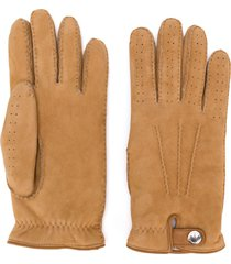 brunello cucinelli perforated gloves - neutrals