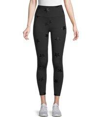 nanette lepore women's tonal star leggings - black black - size l
