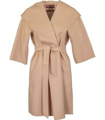 max mara cashmere and wool coat vik pink