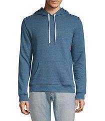 drawstring cotton blend hoodie