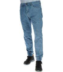 jeans denim jogger slim fit azul cat