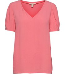 blouses woven blouses short-sleeved rosa esprit casual