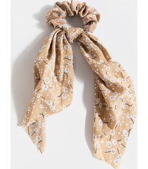 crissy ditsy floral pony scarf - mauve