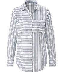 blouse van 100% katoen met lange mouwen van day.like wit