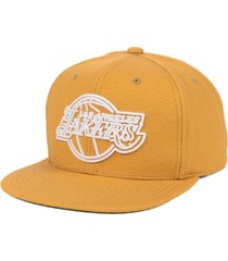 mitchell & ness los angeles lakers wheat neon snapback cap