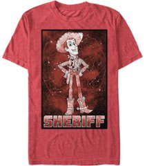 disney pixar men's up sheriff woody galaxy short sleeve t-shirt