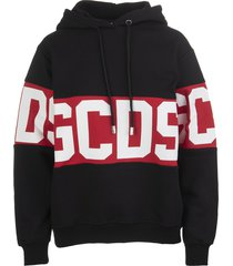 black woman hoodie with logoed band