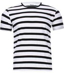 camiseta hombre a rayas color blanco, talla s