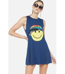 deanna rainbow happy hat face - xl denim night