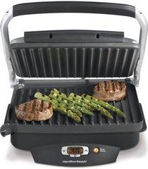 hamilton beach steak lover's 100 sq. in. non stick indoor grill