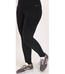calça legging plus size feminina preto