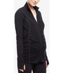 motherhood maternity full-zip jacket