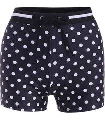 drawstring polka dot swim boyshorts