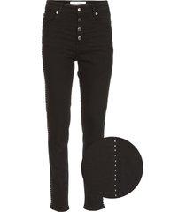 skinny jeans met studs gaetus  zwart