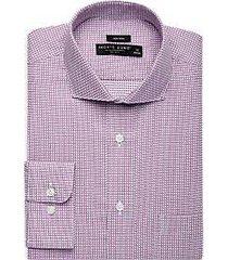pronto uomo burgundy check dress shirt
