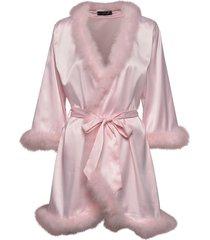 candice feather kimono ochtendjas roze ow intimates