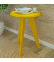 mesa de canto ellis amarelo - artely