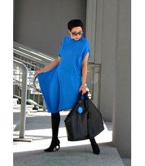 sukienk tunika róg kobalt