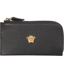 versace medusa leather card holder