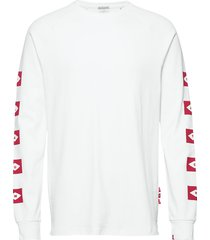 blauw l/s tee wtih sleeve artwork t-shirts long-sleeved vit scotch & soda