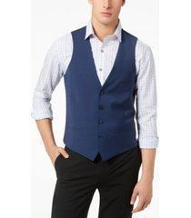 bar iii men's slim-fit active stretch performance wool vest, created for macy's