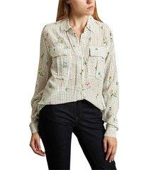 floral dot shirt