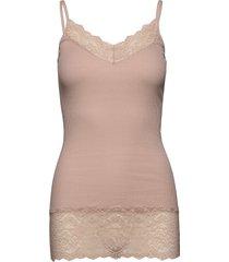organic strap top medium w/ lace t-shirts & tops sleeveless rosa rosemunde
