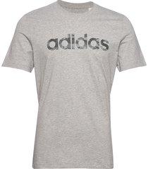 e camo lin tee t-shirts short-sleeved grå adidas performance