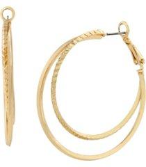 jessica simpson overlapped hoop earrings