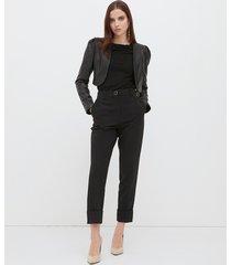 motivi giacca bolero in similpelle donna nero