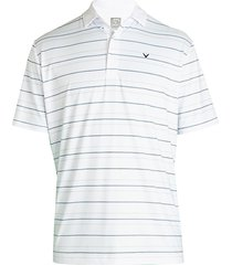 callaway men's printed polo t-shirt - bright white - size l