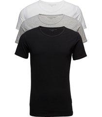 cn tee ss 3 pack pre t-shirts short-sleeved svart tommy hilfiger
