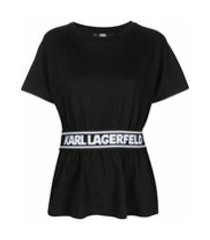 karl lagerfeld camiseta com logo - preto